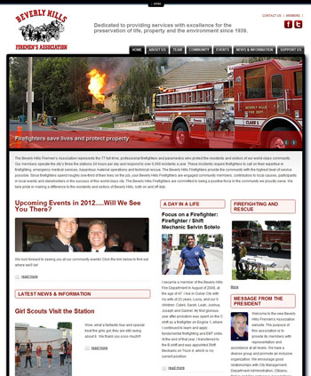 Beverly Hills Fireman's Association Website